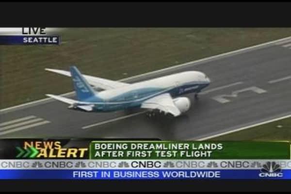 Boeing Plane Lands
