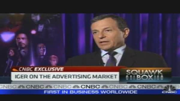 Disney's Iger on Earnings, Advertising & More