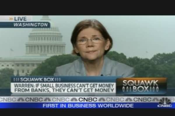 Warren: Small Biz Lending Cut