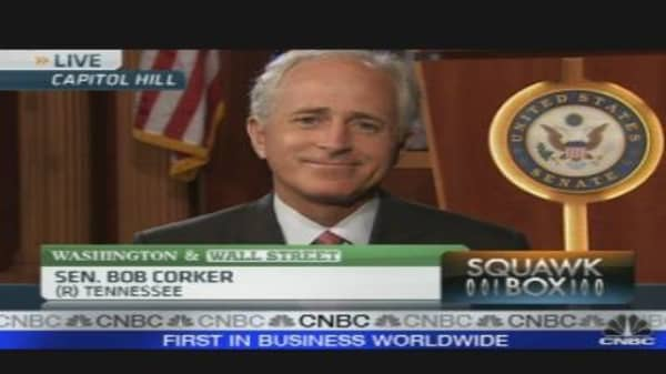 Corker on the Push for a FinReg Vote