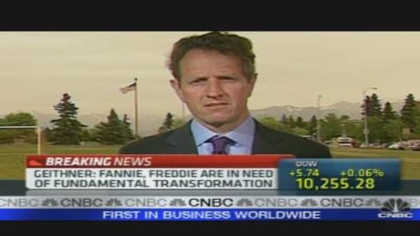 Geithner on Europe, GSEs