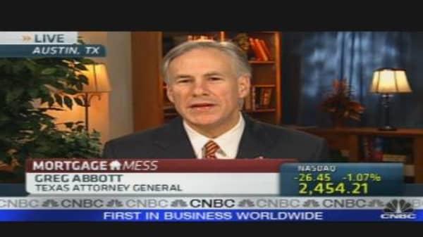 Texas AG on Mortgage Mess