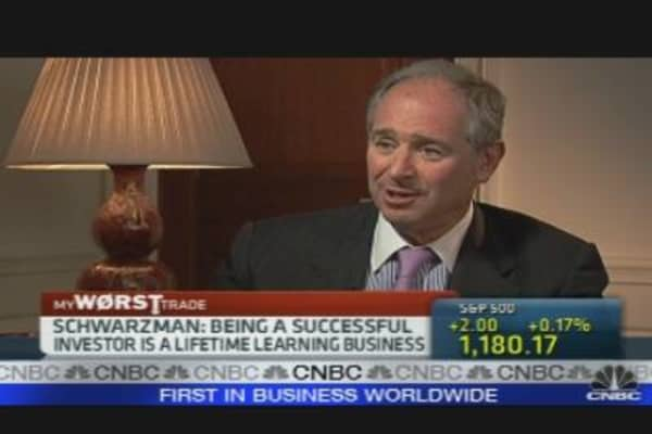 Schwarzman Shares Biggest Business Blunder