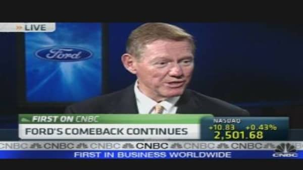 Mulally on Ford Earnings