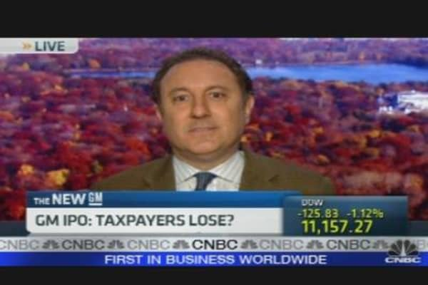 GM IPO: Taxpayers Lose?
