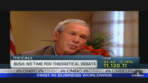 Bush: Right on Financial Crisis?