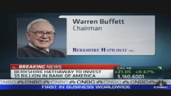 Buffett Buys $5B in BofA Stock