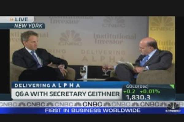 Delivering Alpha: Cramer & Geithner