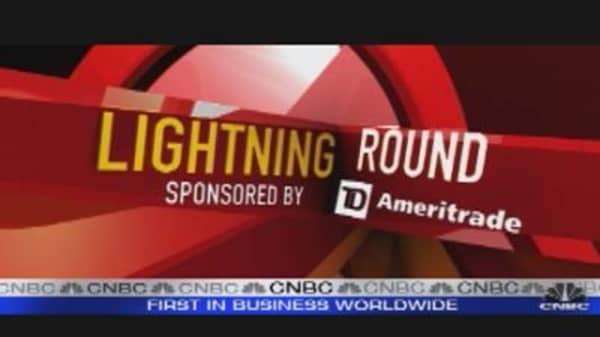 Lightning Round: First Solar, Johnson Controls, Philip