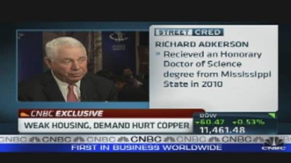 Weak Housing, Demand Hurt Copper