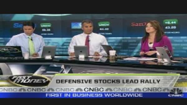 Defensive Stocks Lead Rally