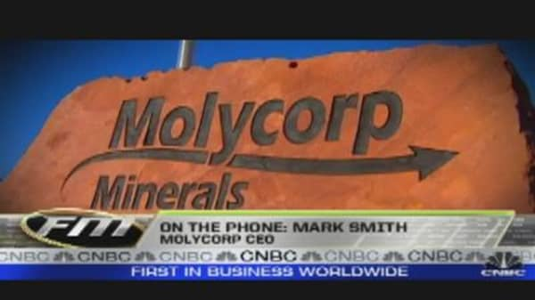 Molycorp CEO on Stock's Drop
