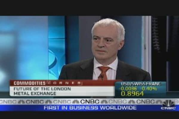London Metal Exchange CEO Talks Bids