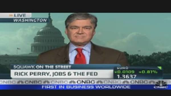 Rick Perry, Jobs & the Fed
