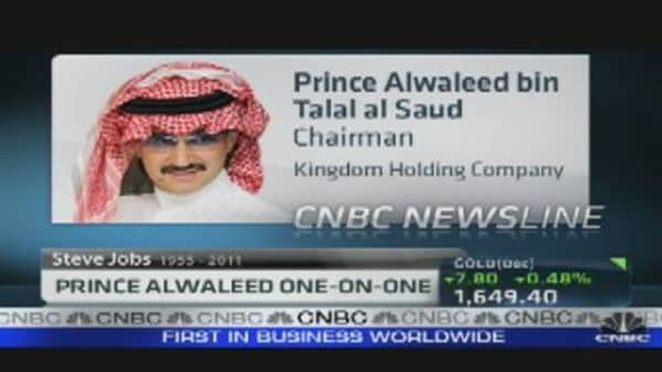Prince Alwaleed on Loss of Steve Jobs