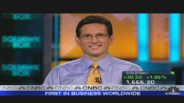 Rep. Eric Cantor on Wall St. Protests
