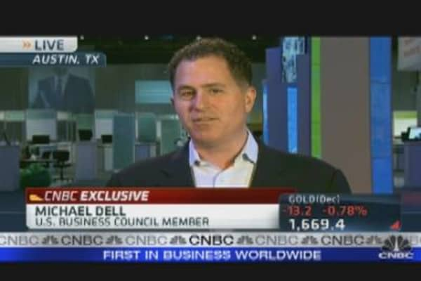 Michael Dell on PC Biz, Steve Jobs