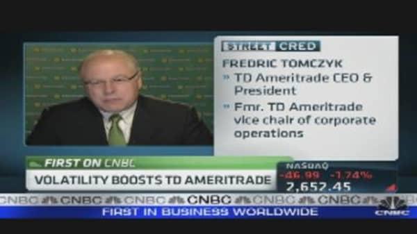 Volatility Boosts TD Ameritrade