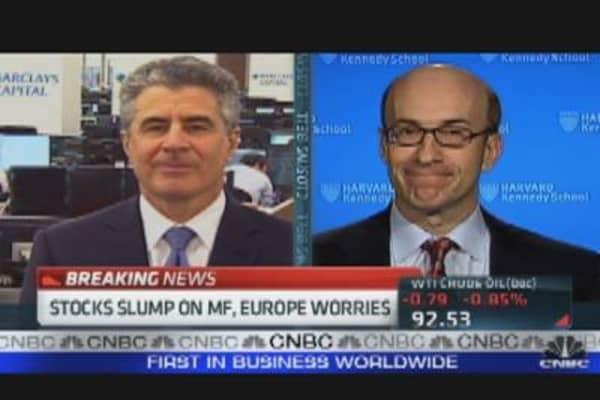 Stocks Fall on Worries of MF, Europe