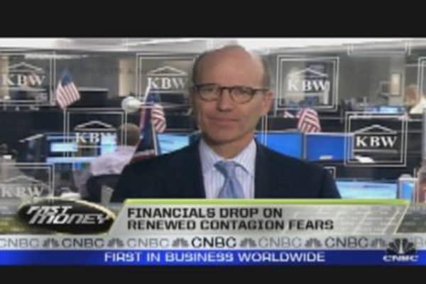 Financials Drop on Contagion Concerns