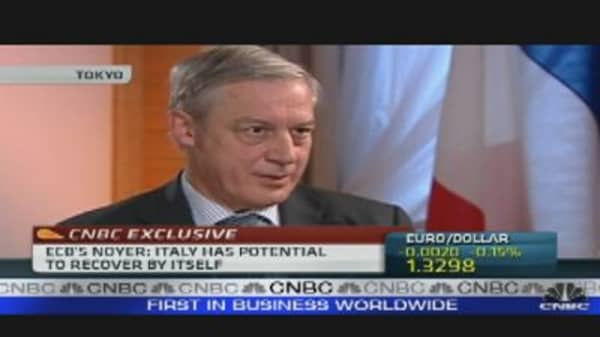 No Sign That Europe Will Fall Back Into Recession: ECB's Noyer