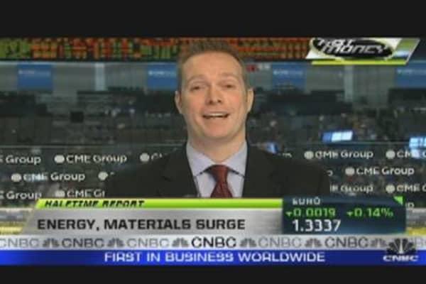 Energy, Materials Surge