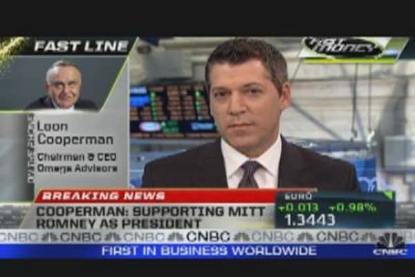Cooperman Hammers 'Ineffectual' Obama
