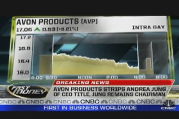 Avon's Jung Stripped of CEO Title