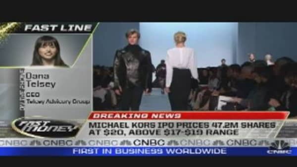 Michael Kors Prices at $20 Per Share