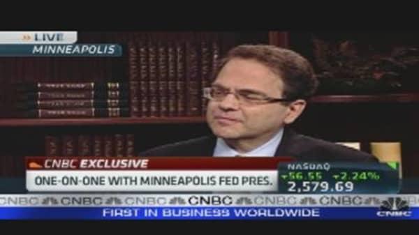 Minneapolis Fed President Bullish on U.S.