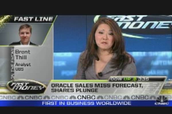 Rare Miss: Oracle Shares Take a Hit