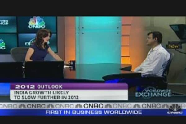 India Growth Likely to Slow Further in 2012