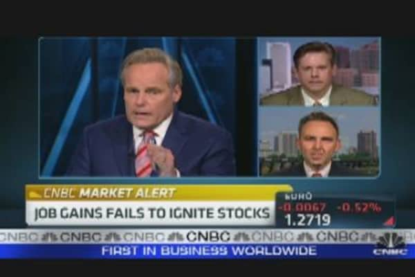 Job Gains Fails to Ignite Stocks