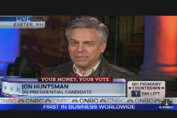 Huntsman: 'No Subsidies, No Corporate Welfare'