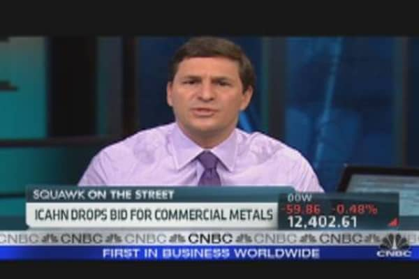 Carl Icahn Drops Bid For Commercial Metals