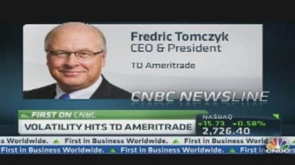 Volatility Hits TD Ameritrade