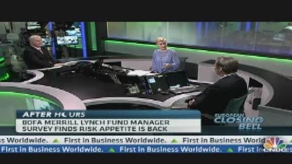 BofA/ML Fund Manager Survey: Risk Appetite Back