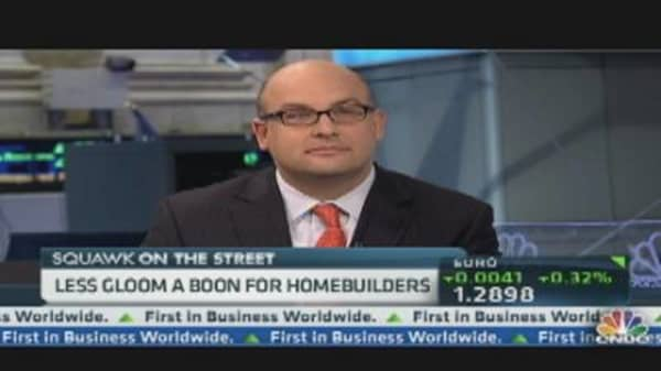 Less Gloom a Boon for Homebuilders