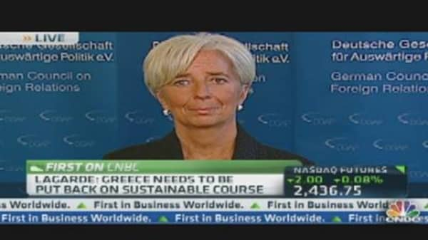 IMF's Lagarde: Much Still Needs to Be Done for Euro Crisis