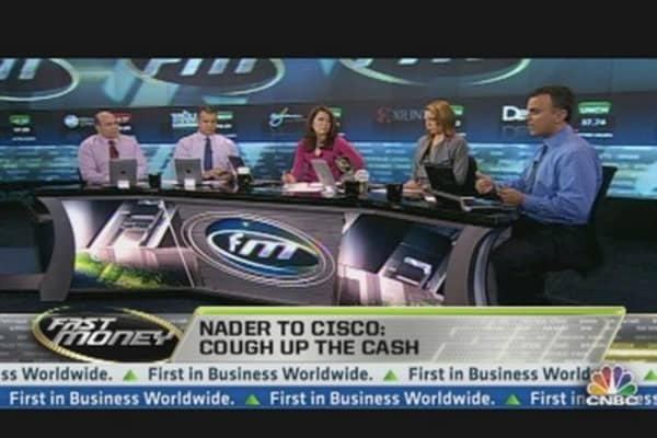 Nader to Cisco: Cough Up the Cash
