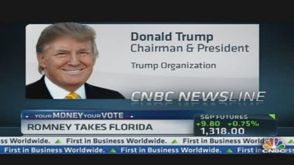 Donald Trump on NYSE Euronext Deal & Romney's Win