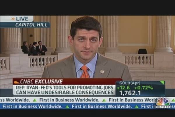 Rep. Paul Ryan on the Fed, Inflation & Jobs
