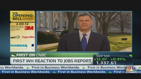 White House Reaction to Jobs Report