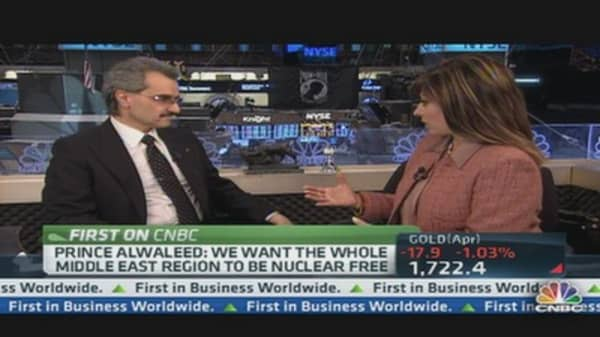 Prince Alwaleed: Saudis Won't Let Oil Top $100