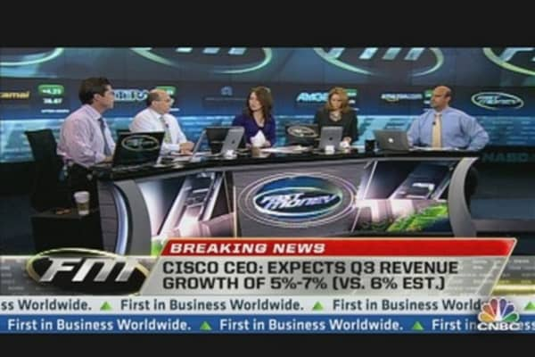 Cisco Shares Up on Earnings Beat