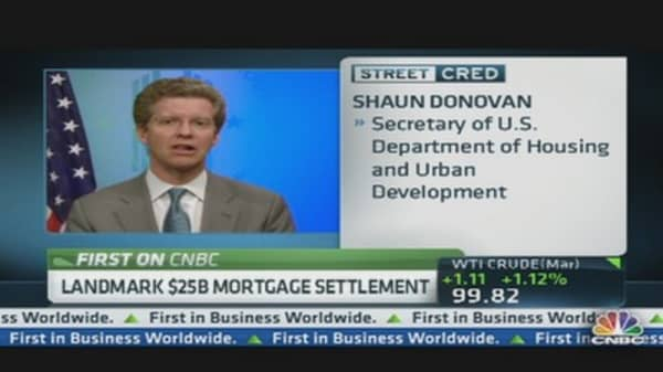 HUD Secretary on $25B Mortgage Deal