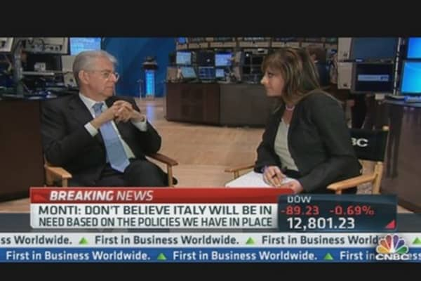 Italy's Mario Monti One-on-One