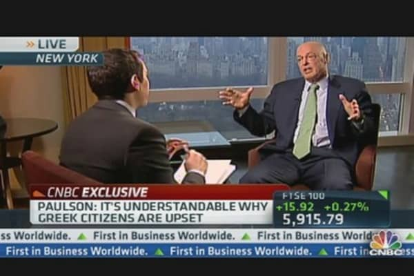 Henry Paulson: Lehman Not Right Analogy for Europe