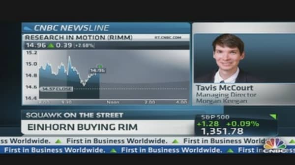 Einhorn Buying RIMM