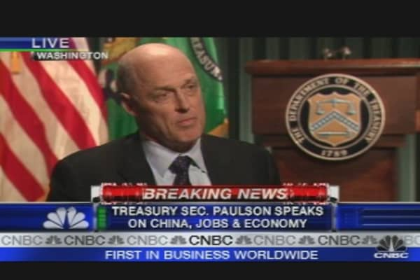 Treasury Sec. Paulson, Pt. 1